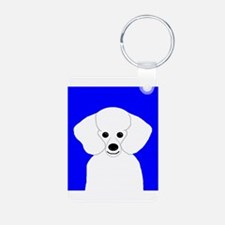 Poodle (White) Keychains
