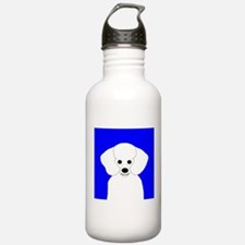 Poodle (White) Water Bottle