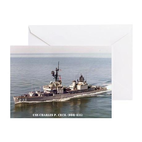 USS CHARLES P. CECIL Greeting Card