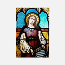 St Cecilia Rectangle Magnet