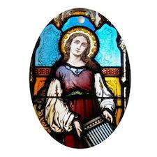 St Cecilia Ornament (Oval)