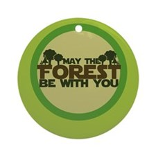 Earth Day Geek Ornament (Round)
