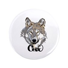 """The Cherokee Wolf 3.5"""" Button (100 pack)"""