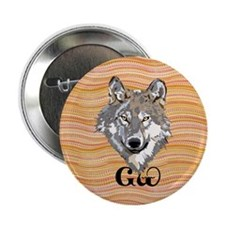"""The Cherokee Wolf 2.25"""" Button (10 pack)"""