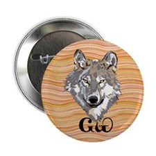 "The Cherokee Wolf 2.25"" Button"