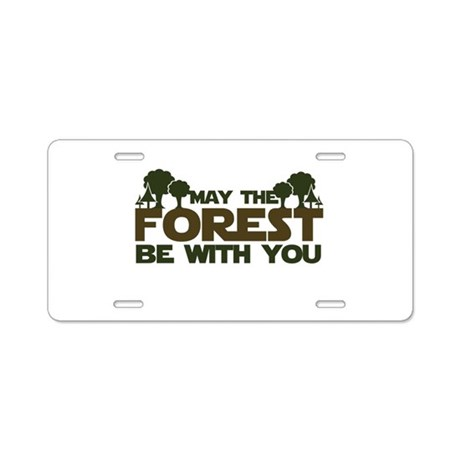 Earth Day Geek Aluminum License Plate