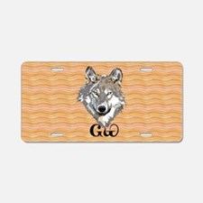The Cherokee Wolf Aluminum License Plate