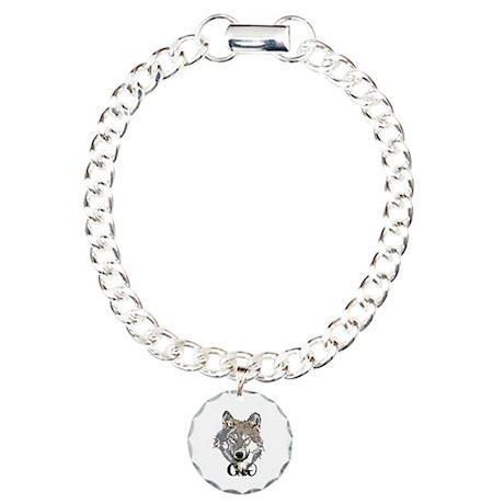 The Cherokee Wolf Charm Bracelet, One Charm