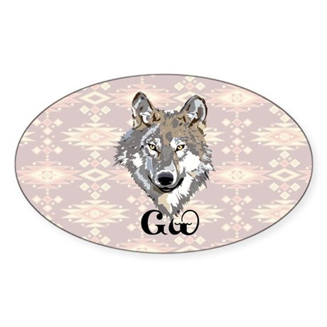 The Cherokee Wolf Sticker (Oval)