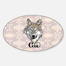 The Cherokee Wolf Sticker (Oval)