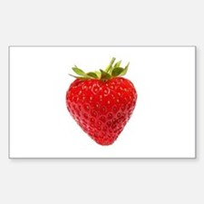 Cute Strawberries Sticker (Rectangle)