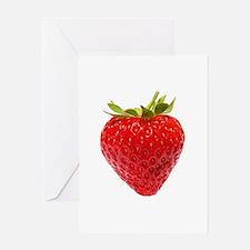 Cute Strawberries Greeting Card