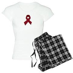 Burgundy Ribbon Gear Pajamas