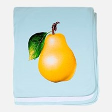 Pear baby blanket