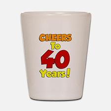 Cheers to 40 Years Shot Glass