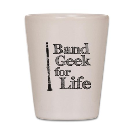 Clarinet Band Geek Shot Glass