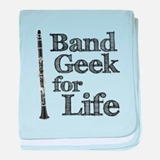 Clarinet Band Geek baby blanket