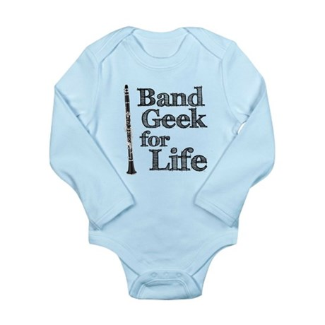 Clarinet Band Geek Long Sleeve Infant Bodysuit