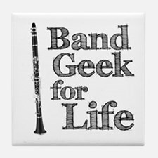 Clarinet Band Geek Tile Coaster