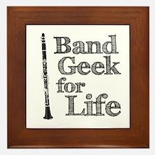 Clarinet Band Geek Framed Tile