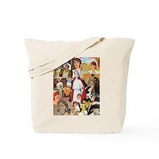 Vintage Nurse Collage Tote Bag