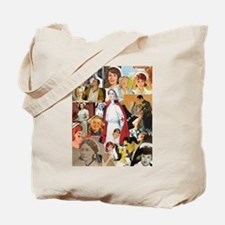 Vintage Nurse Collage Tote Bag