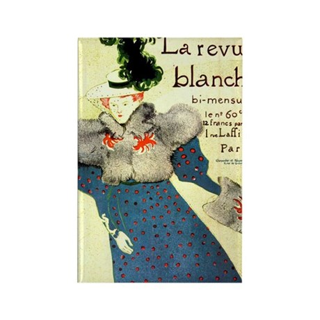 Toulouse Lautrec Art Rectangle Magnet
