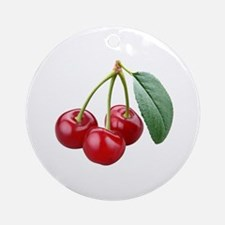 Cherries Cherry Ornament (Round)