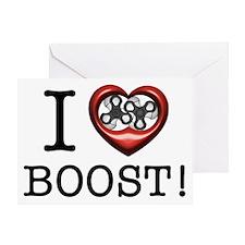 Cute I love boo Greeting Card