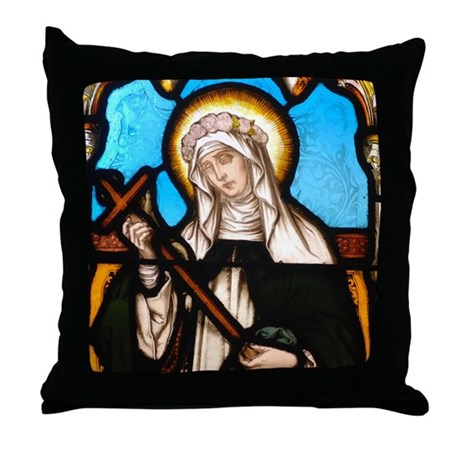 St Rose of Lima Throw Pillow