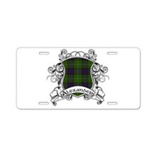 Alexander Tartan Shield Aluminum License Plate