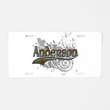 Anderson Tartan Grunge Aluminum License Plate