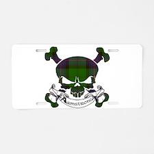 Armstrong Tartan Skull Aluminum License Plate