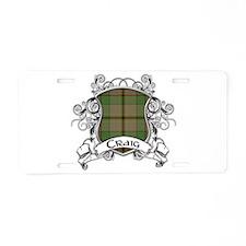 Craig Tartan Shield Aluminum License Plate