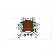 Crawford Tartan Shield Aluminum License Plate