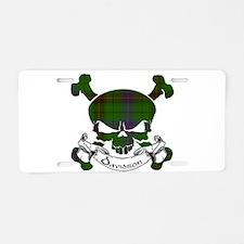 Davidson Tartan Skull Aluminum License Plate