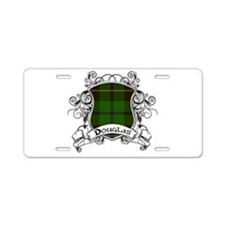 Douglas Tartan Shield Aluminum License Plate