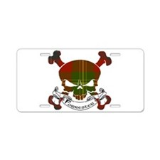 Forrester Tartan Skull Aluminum License Plate