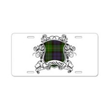 Gordon Tartan Shield Aluminum License Plate