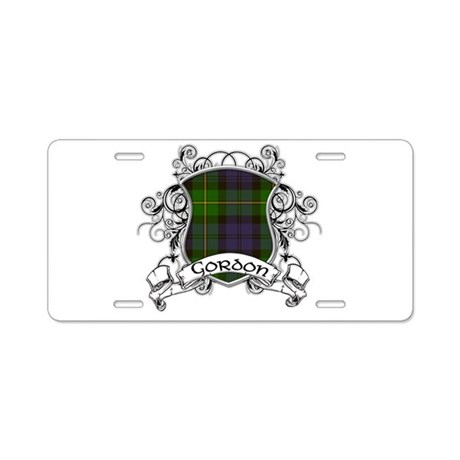Gordon Tartan Shield Aluminum License Plate