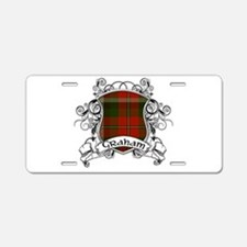 Graham Tartan Shield Aluminum License Plate
