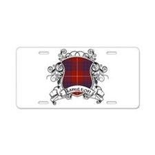 Hamilton Tartan Shield Aluminum License Plate