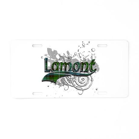 Lamont Tartan Grunge Aluminum License Plate