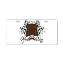 Lindsay Tartan Shield Aluminum License Plate