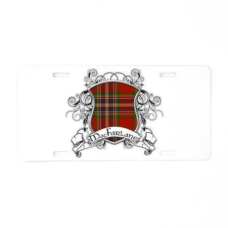 MacFarlane Tartan Shield Aluminum License Plate