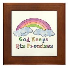 God Keeps His Promises Framed Tile