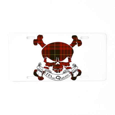 MacQueen Tartan Skull Aluminum License Plate