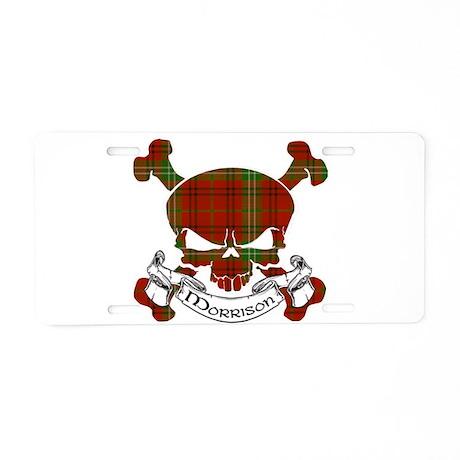 Morrison Tartan Skull Aluminum License Plate
