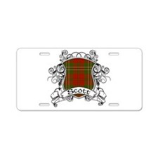 Scott Tartan Shield Aluminum License Plate