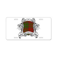 Stewart Tartan Shield Aluminum License Plate